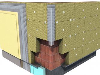 Утепление наружных стен минераловатными плитами