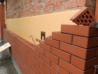 Облицовка фасада дома кирпичом технология