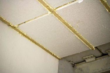 Утепление потолка гаража пенопластом изнутри