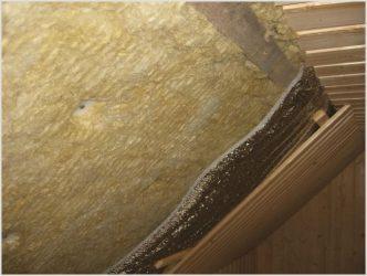Утепление потолка картоном