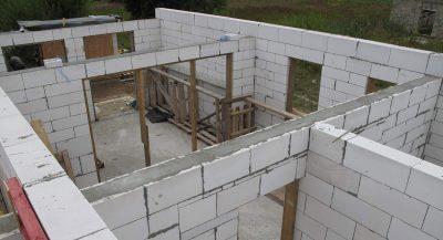 Строительство стен из газобетонных блоков