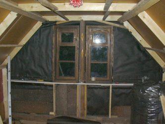 Как утеплить фронтон мансарды изнутри?
