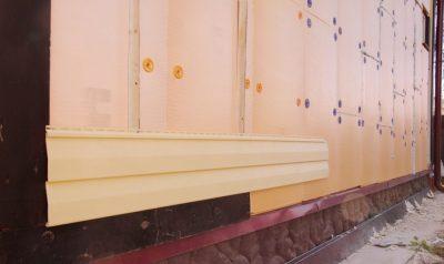 Монтаж пеноплекса на стену под сайдинг