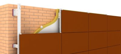 Система вентилируемого фасада металлпрофиль