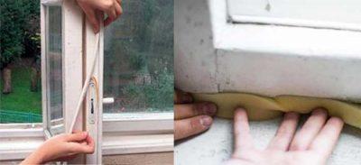 Как утеплить окна поролоном?