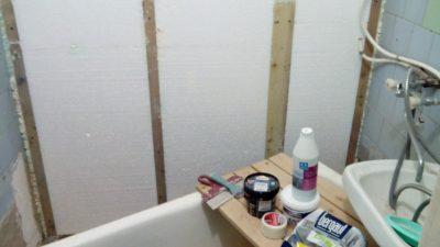 Утепление стен в ванной комнате изнутри