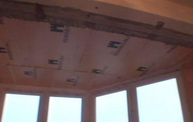 Как крепить пеноплекс к потолку из бетона?